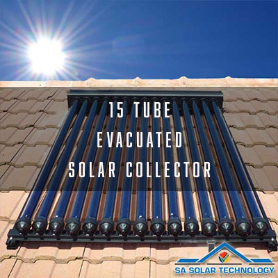 SA Solar Technology 15 Tube Evacuated Solar Collector