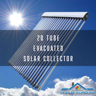 SA Solar Technology 20 Tube Evacuated Solar Collector