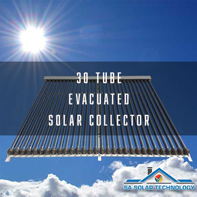 SA Solar Technology 30 Tube Evacuated Solar Collector